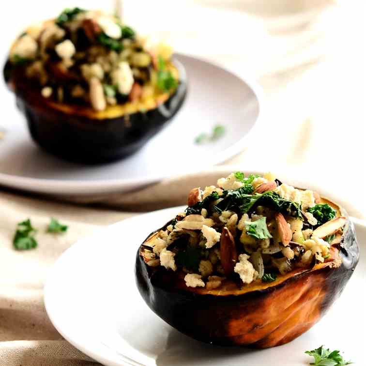 Maple Wild-Rice Stuffed Squash