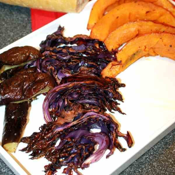 Roasted Autumn Vegetables and Cabbage chip