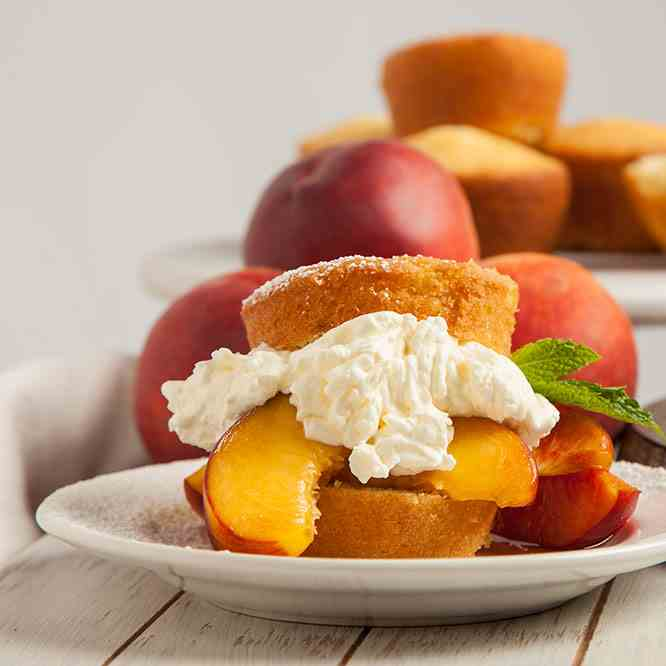 Peaches and Cream Shortcakes
