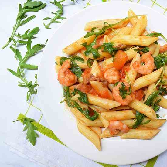 Prawns - Rocket Pasta Recipe