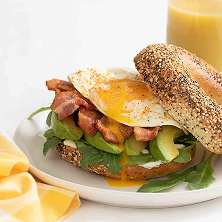 Bacon Egg Avocado Breakfast Sandwich