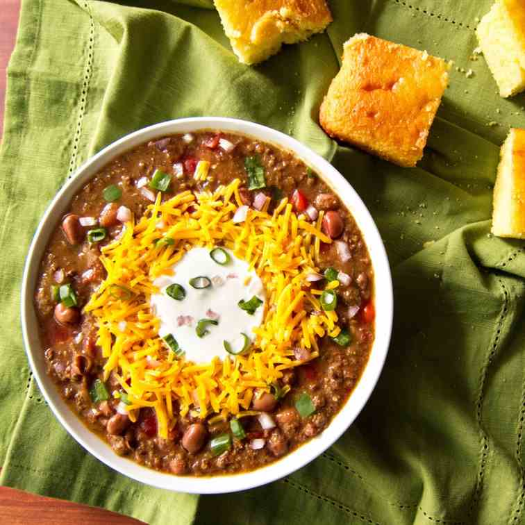 Instant Pot Chili Using Dried Beans