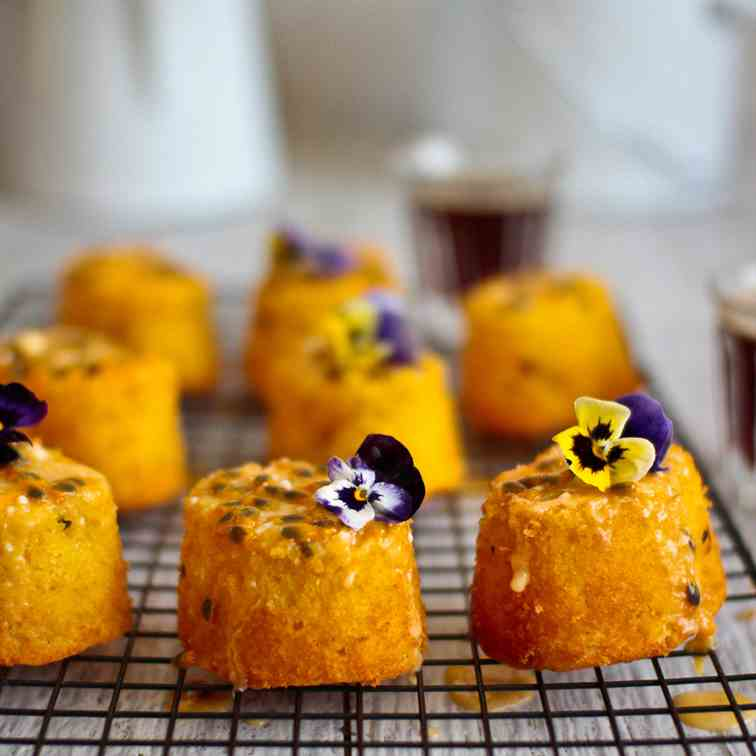 Passionfruit - Lemon Mini Cakes