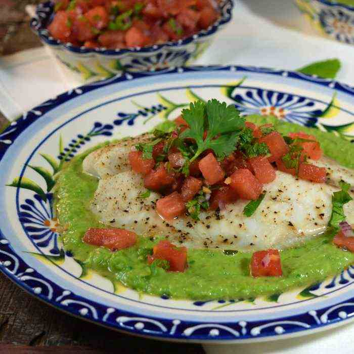 Tilapia with Watermelon-Habanero Salsa