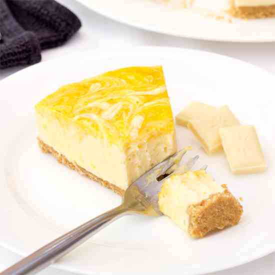 Mango - White Chocolate Cheesecake