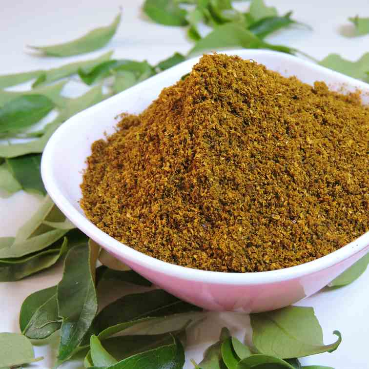 Spiced curry leaves powder recipe