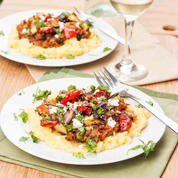 Polenta with Vegetables and Feta