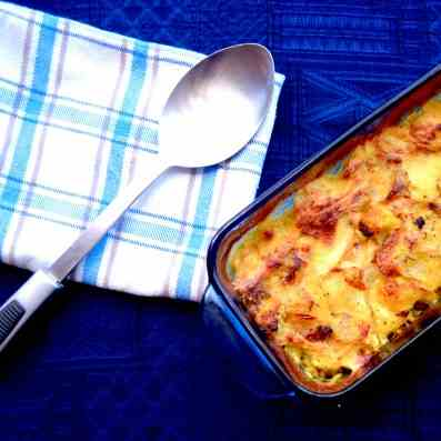 Crispy Cauliflower and Potato Gratin with