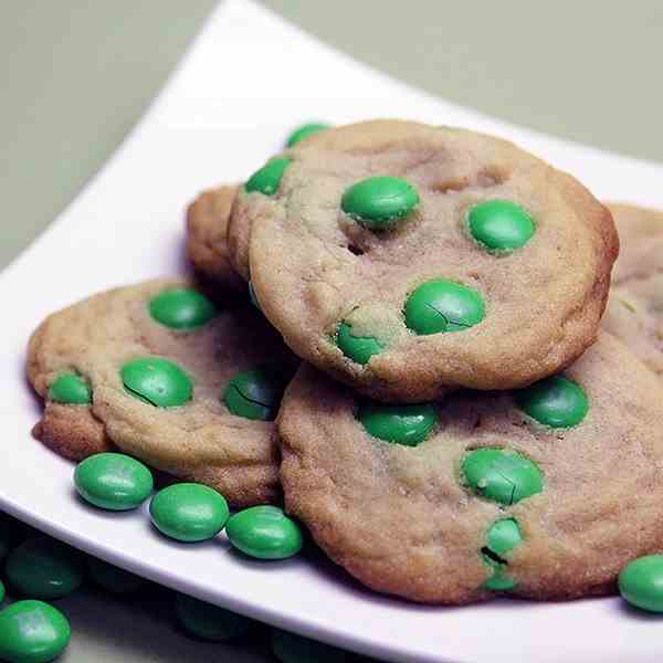 Green M&M Cookies