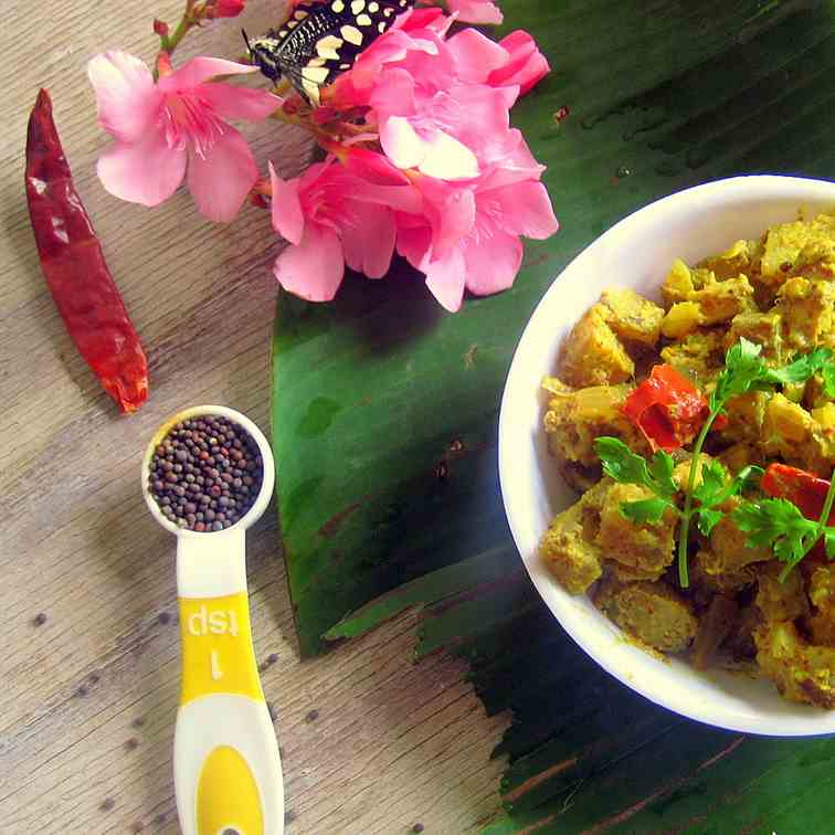 Raw Plantain In Mustard Sauce