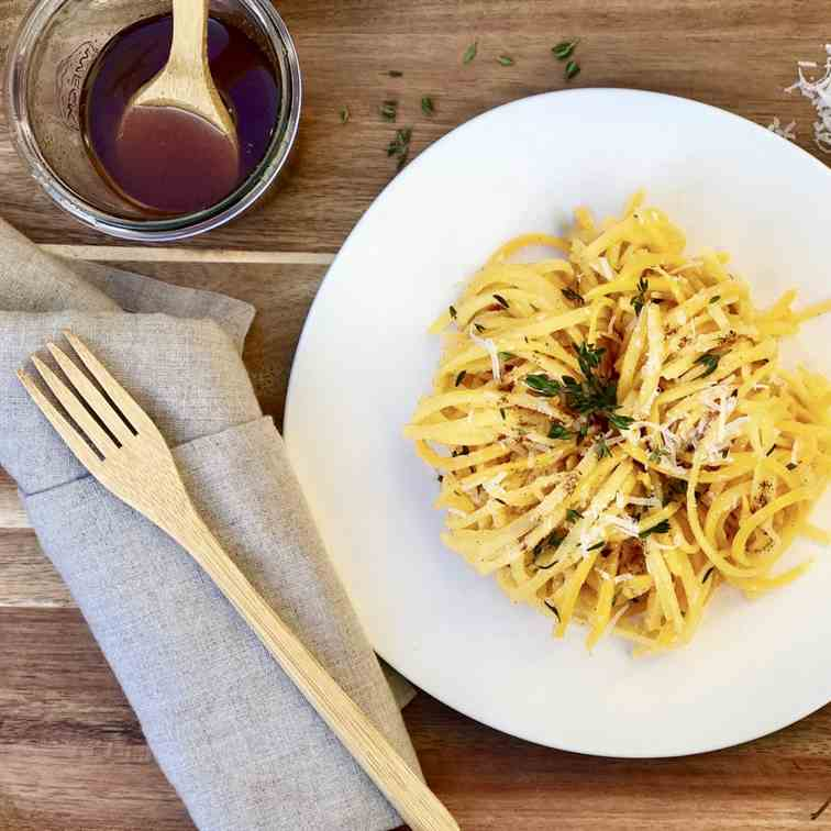 Butternut Squash Noodles With Brown Butter