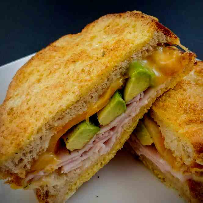 Ham Cheese and Avocado French Toast