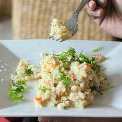 Upma. Indian vegan breakfast