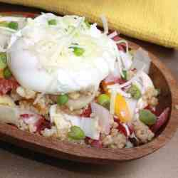 Endive and Bulgur Salad With Poached Eggs