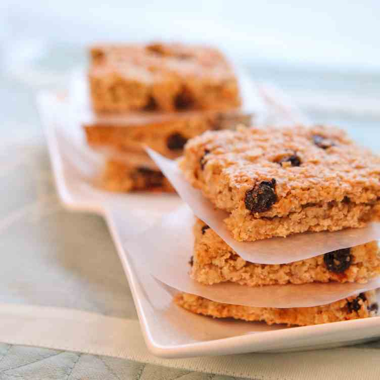 Easy Oatmeal Raisin Bars