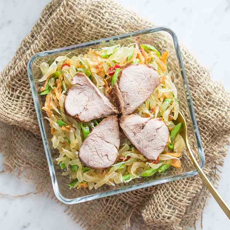 Thai Pomelo Salad with Baked Pork