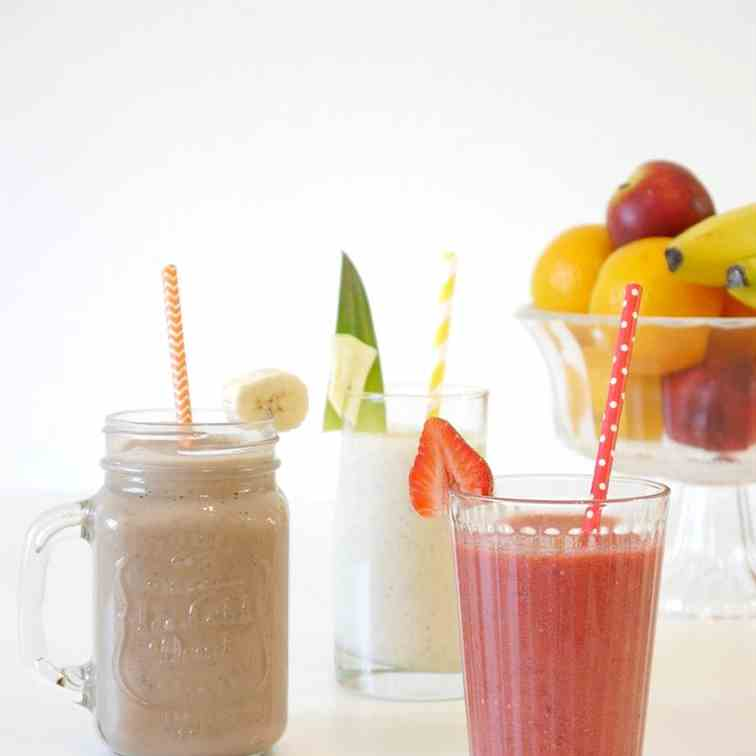 Three Tasty - Healthy Smoothie Recipes