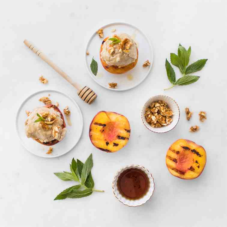 Boozy Banana No-Churn Ice Cream - Peaches