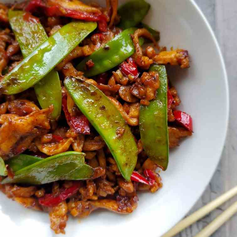 Chicken with Chili Bean Sauce