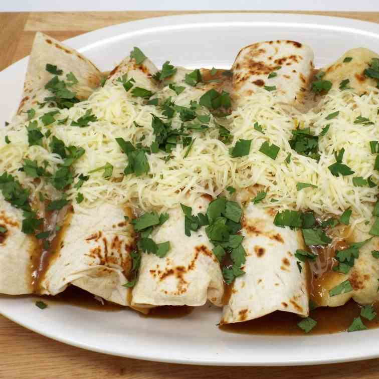 Slow Cooker Cuban Mojo Pork Enchiladas