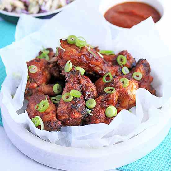 Oven Baked Barbecue Chicken Wings