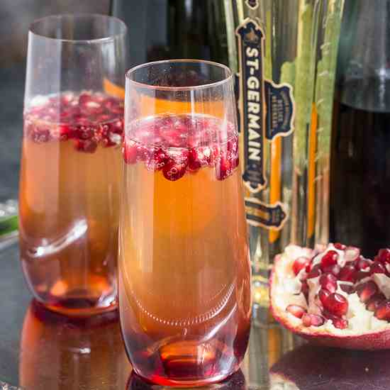 St. Germain and Pomegranate Cocktail