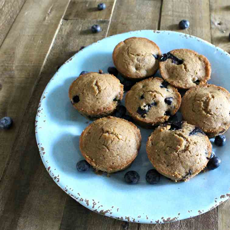 One Bowl Simple Vegan Blueberry Muffins