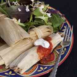 Green Chile Pork Tamales