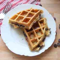 Snow Day Chocolate Chip Waffles