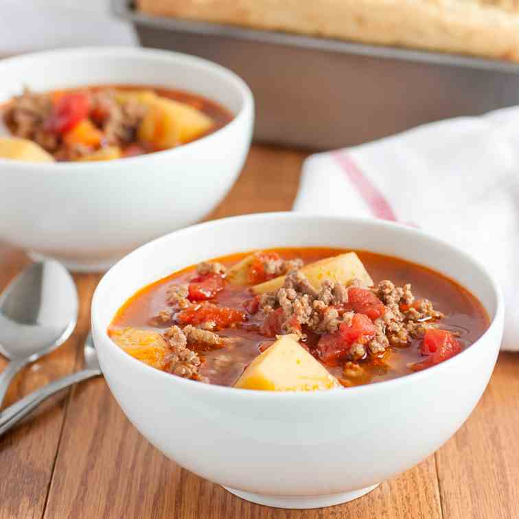 Quick and Easy Hamburger Soup