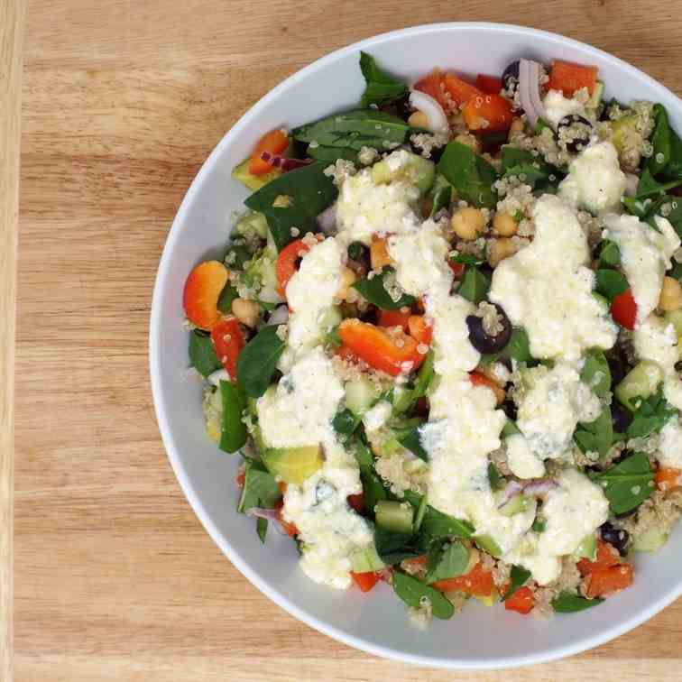 Greek Quinoa and Chickpea Salad
