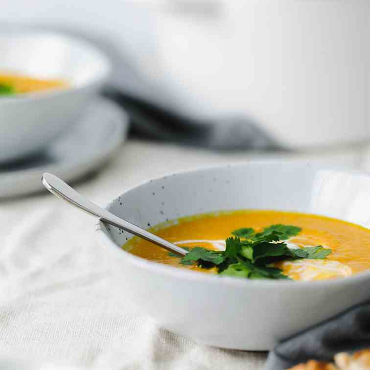 Spiced Carrot - Ginger Soup