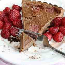 Raspberry Milk Chocolate Truffle Tart
