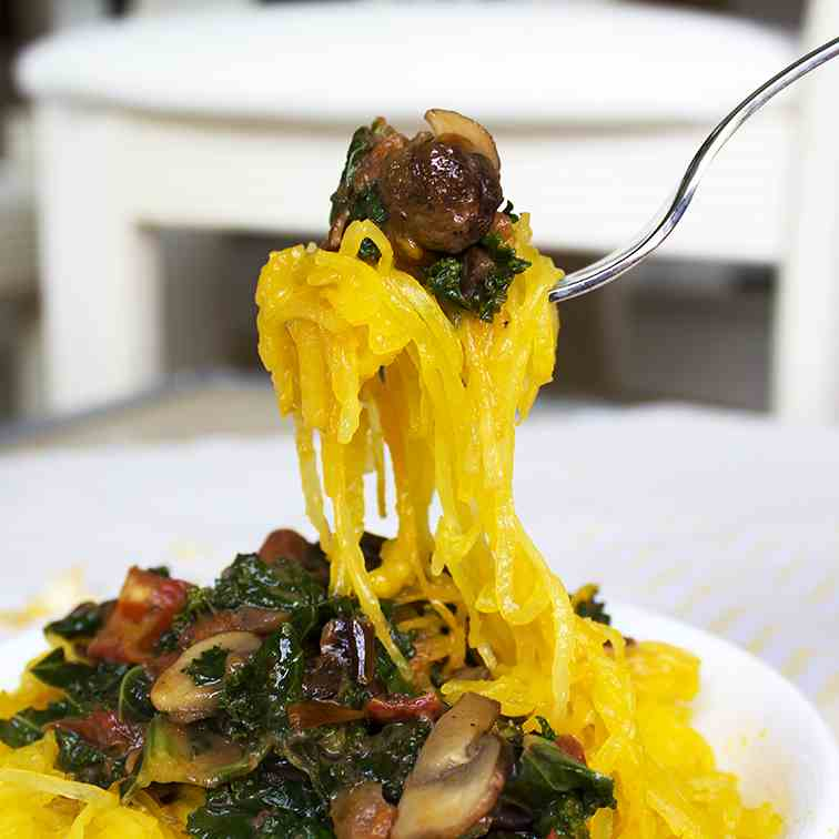 Spaghetti Squash with Coconut Sauce