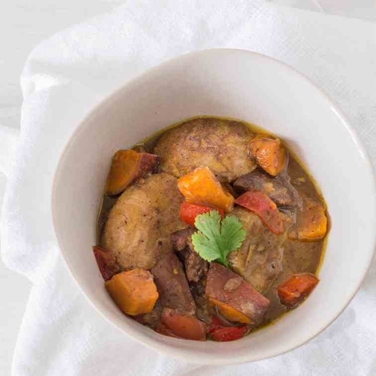 Slow Cooker Duck and Plantain Curry