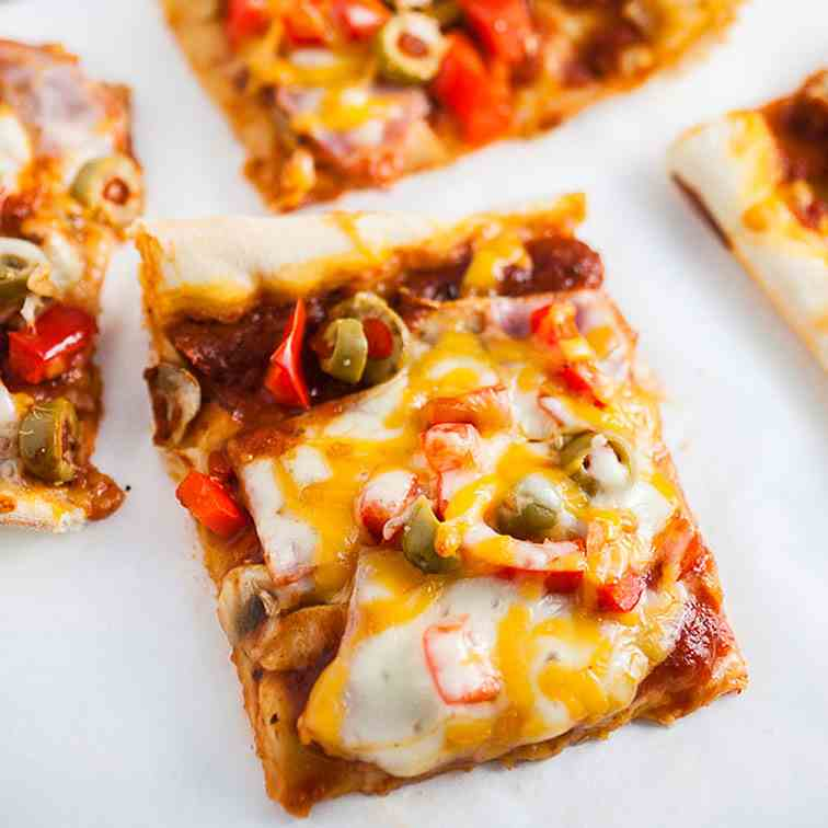 Sheet Pan Pizza with Canadian Bacon