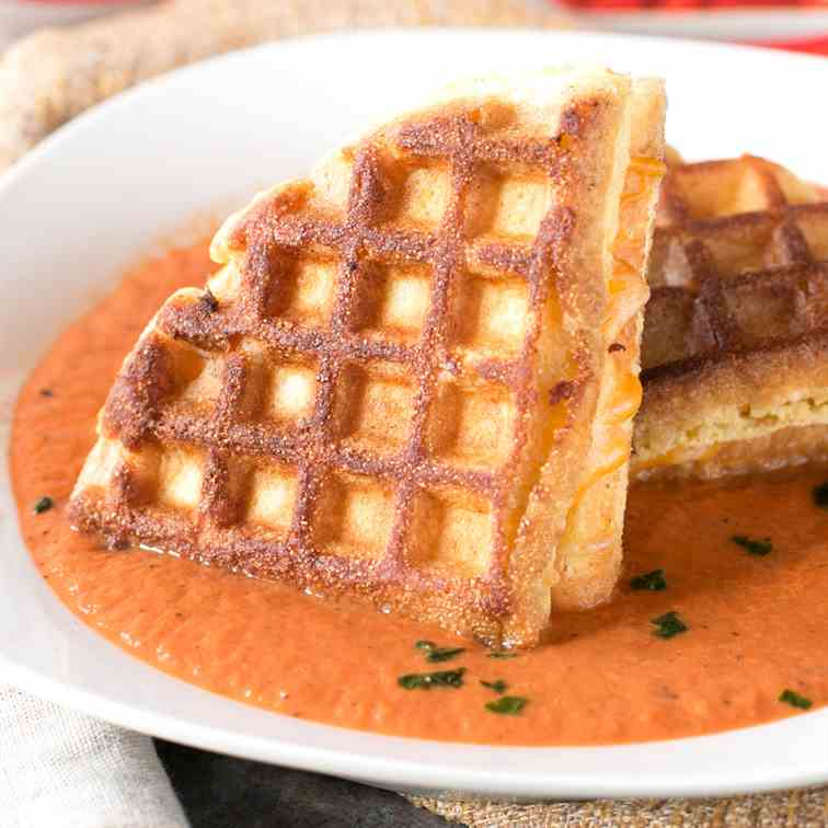 Cornbread Waffle Grilled Cheese Sandwiches