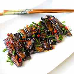 Chinese style Eggplant in Sweet and Spicy