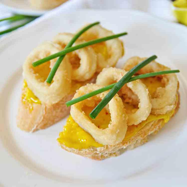 Calamari Sandwiches with Saffron Aioli