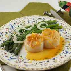 Sea Scallops with Caramel-Orange Sauce
