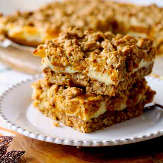 Pumpkin - Cheesecake Swirl Oat Bars