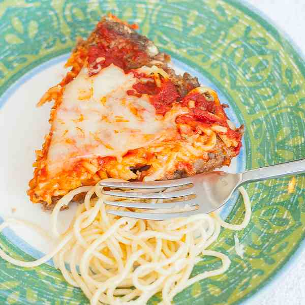 Spaghetti Pie with Meat Crust