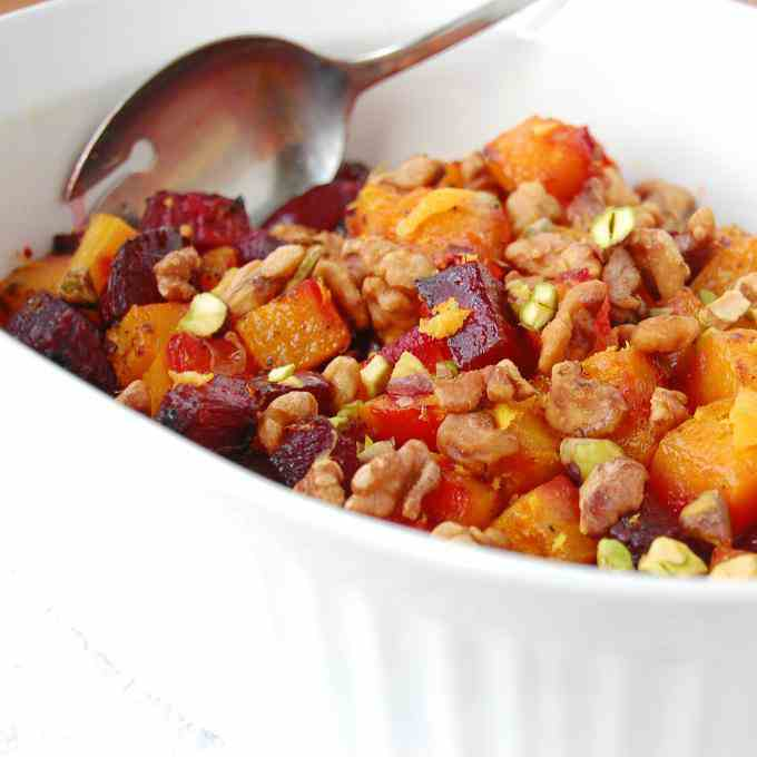 Oven Roasted Butternut Squash and Beets