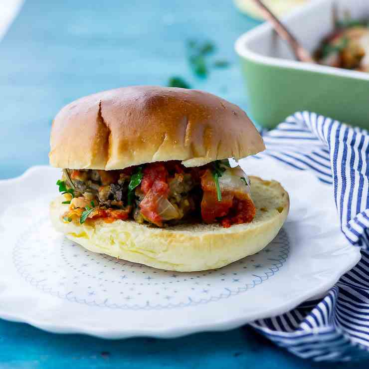 Vegetarian Meatball Sandwiches with Tomato