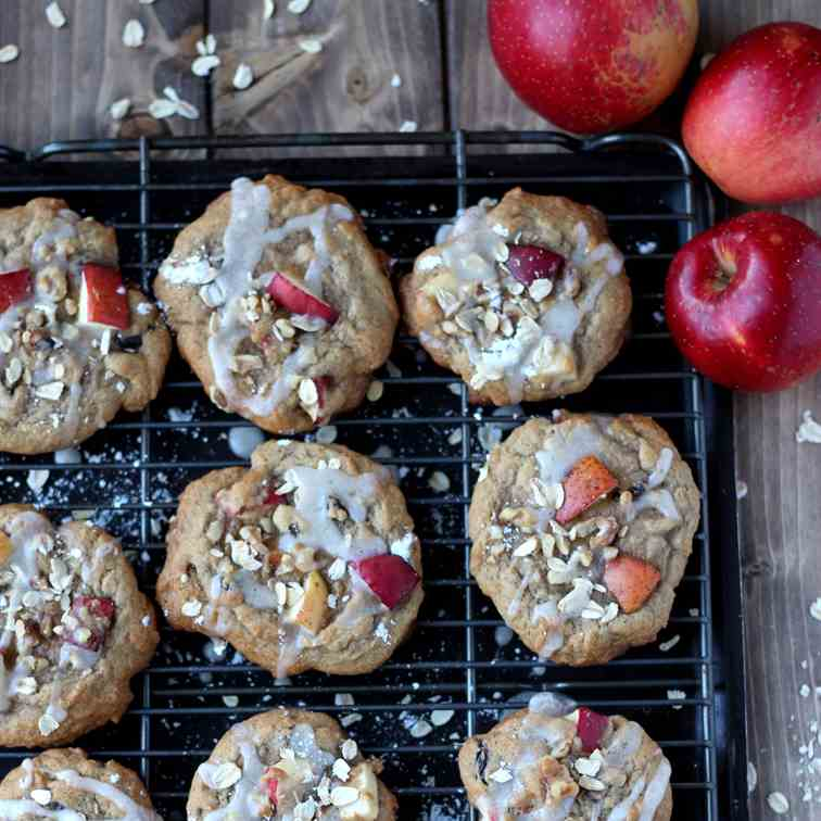 Sweet Glazed Apple Cookies