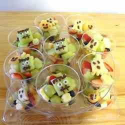 Halloween Fruit salad cup