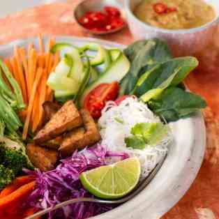 Indonesian gado-gado salad