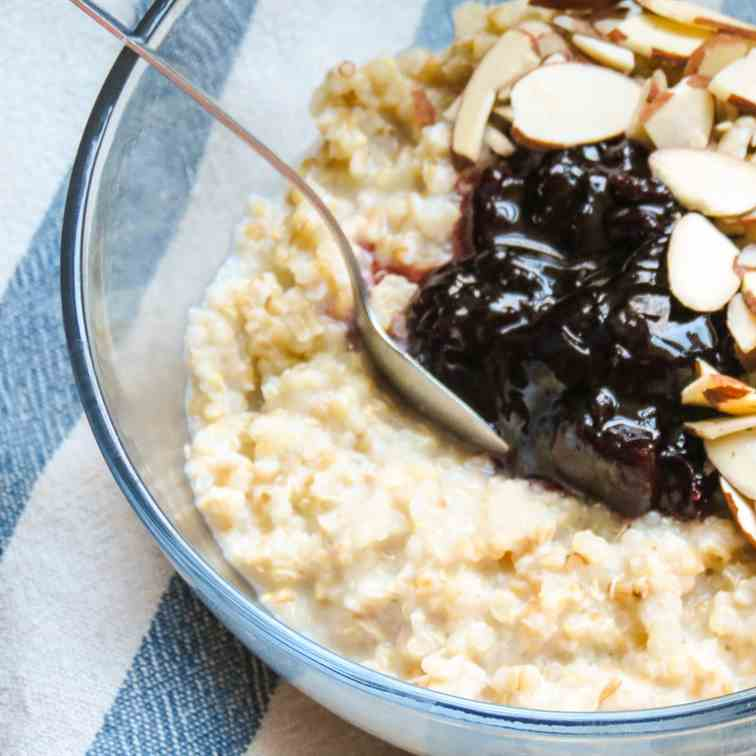 Cherry Almond Power Oatmeal