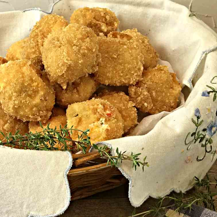 Deep Fried Pimento Cheese Snack Balls