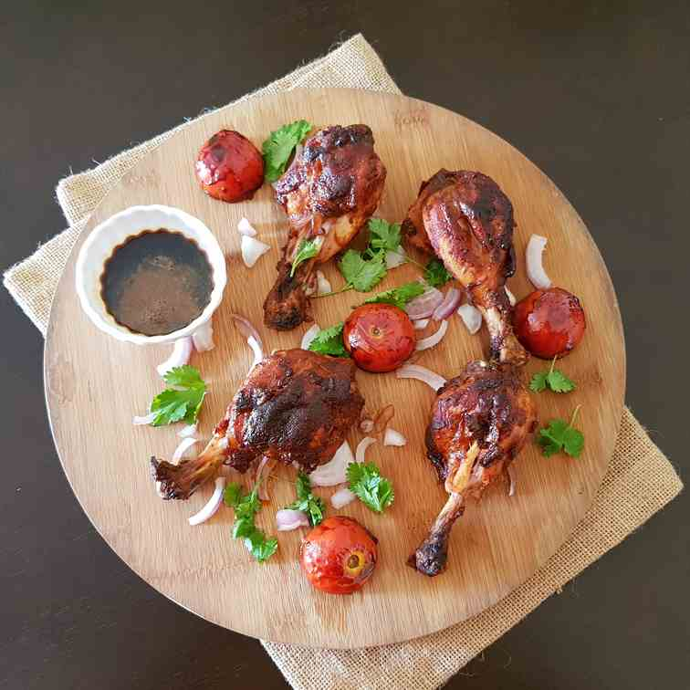 Grilled Coffee Marinated Chicken